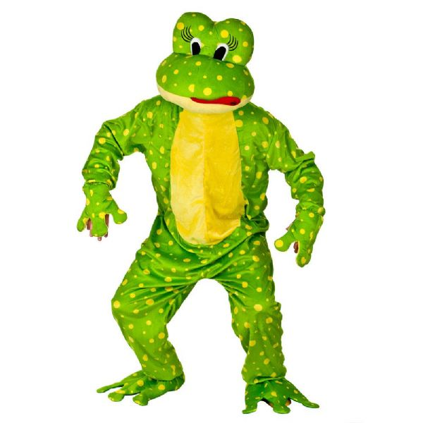 Adult Deluxe Mini Mascot Costume for Animals Creatures Fancy Dress Mens Ladies Cute Frog